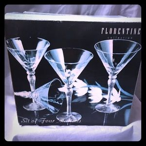 Florentine Collection Martini Glass Set